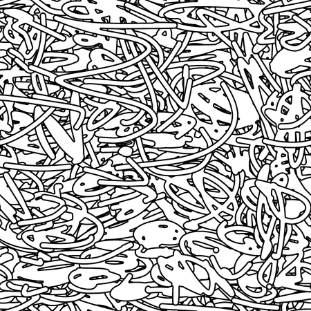 Abstract scribble background, seamless pattern for your design. Vector illustration