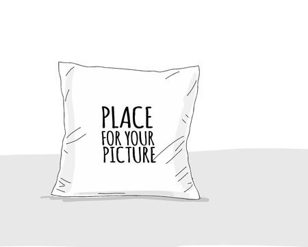 Pillow mockup with place for your design