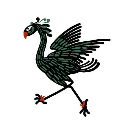 Fantastic mythological bird, sketch for your design