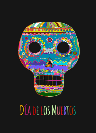 Day of the dead. Mexican sugar skull for your design. Vector illustration