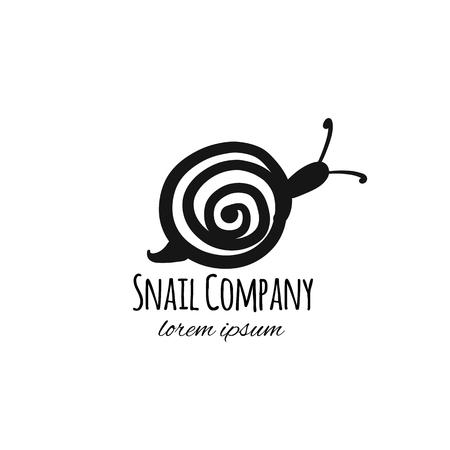 Funny snail, black silhouette for your design Reklamní fotografie - 110287162