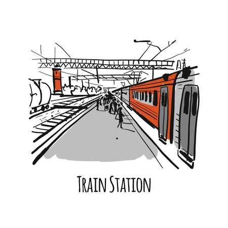 Train station, sketch for your design