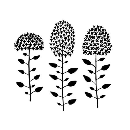 Hydrangea flower, sketch for your design. Vector illustration