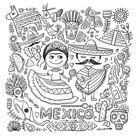 Travel to Mexico. Sketch for your design