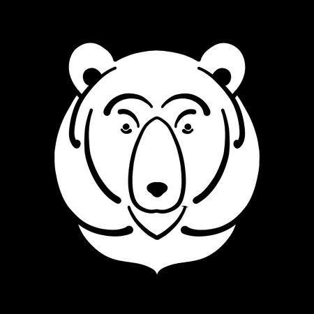 Bear face, sketch for your design Illustration