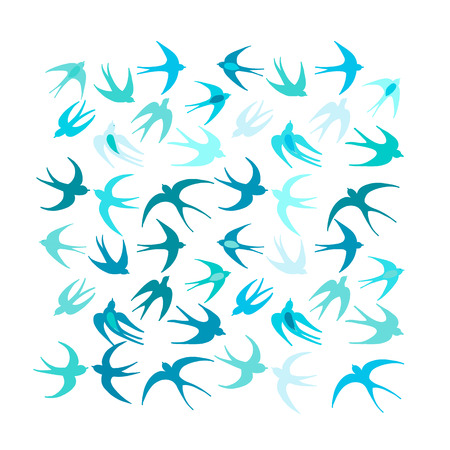 Swallows, background for your design. Vector illustration