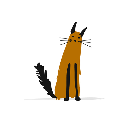 Cat, sketch for your design