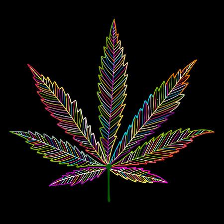 Feuille de cannabis, croquis pour votre conception