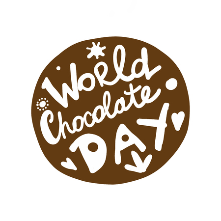World chocolate day, icon for your design Illustration