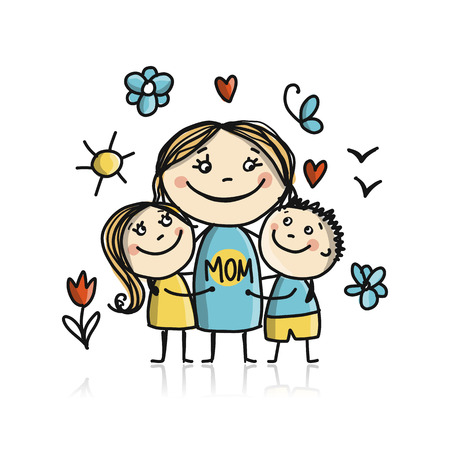Happy mothers day. Greeting card design