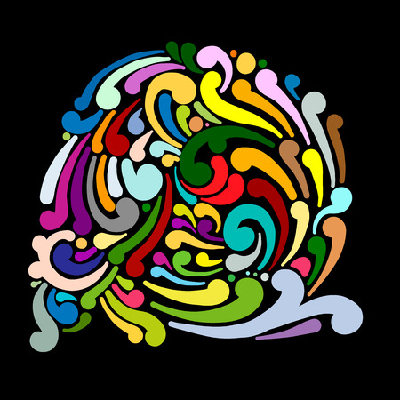 Abstract swirl background for your design. Vector illustration