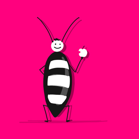 Funny beetle for your design Illustration