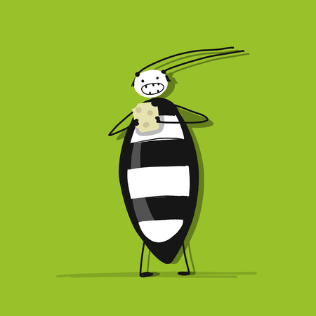 Funny beetle for your design Standard-Bild - 111173844
