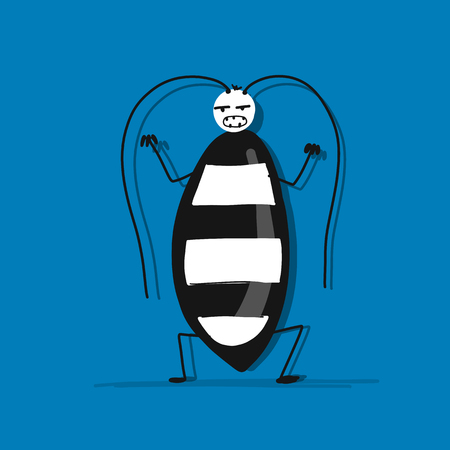 Funny beetle for your design Stock Illustratie