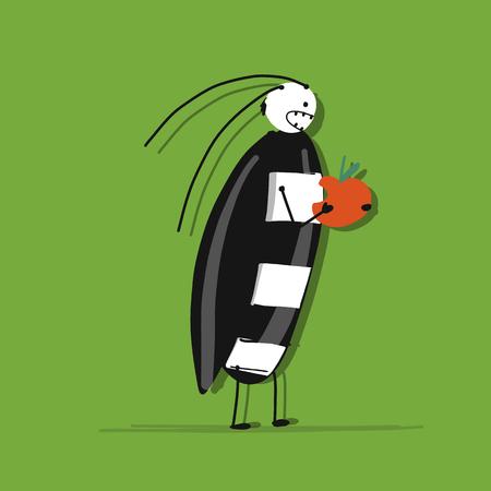 Funny beetle for your design Иллюстрация