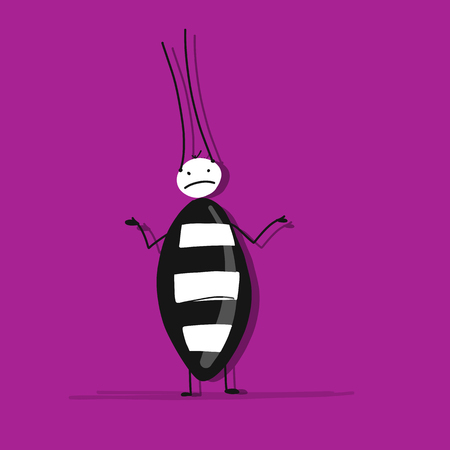 Funny beetle for your design. Vector illustration