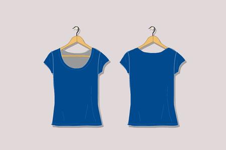 Female tshirt mockup white for your design. Vector illustration Banque d'images - 128174888