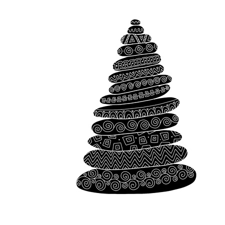 Stone pyramid, ethnic ornament. Sketch for your design. Vector illustration
