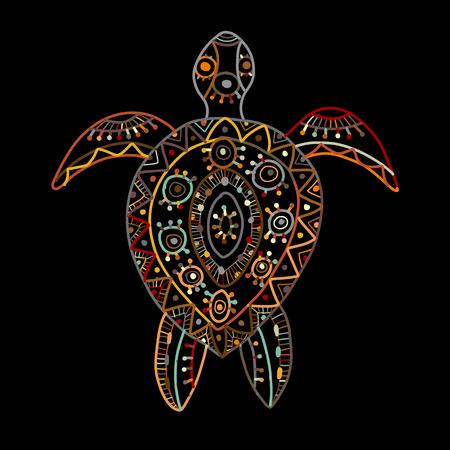 Tortuga adornada para su diseño. Ilustración vectorial Ilustración de vector