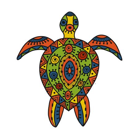 Tortoise ornate for your design. Vector illustration Illustration