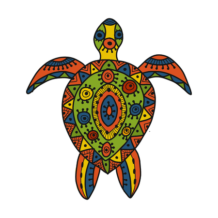 Tortoise ornate for your design. Vector illustration Stock Illustratie