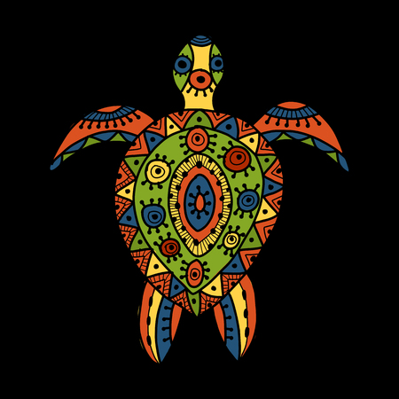 Tortoise ornate for your design. Vector illustration Vectores