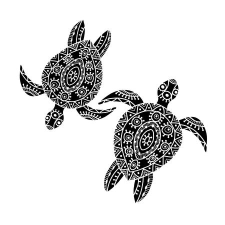 Tortoise ornate for your design. Vector illustration 向量圖像