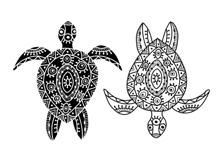 Tortoise ornate for your design. Vector illustration  イラスト・ベクター素材