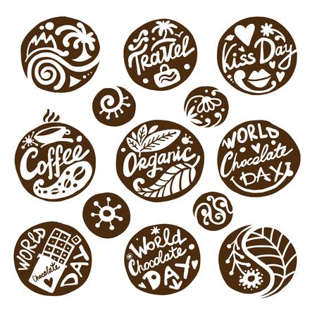 Circle icons set, sketch for your design Foto de archivo - 111465531
