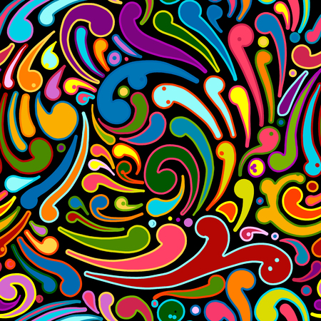 Abstract swirl seamless pattern for your design. Vector illustration