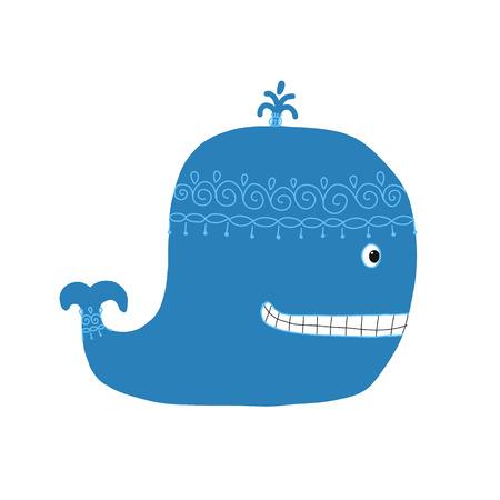 Whale, sketch for your design Illustration
