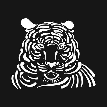 Tiger, sketch for your design Banque d'images - 112510997