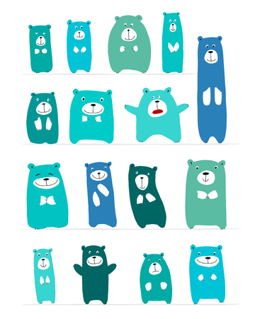 Funny bears collection, sketch for your design