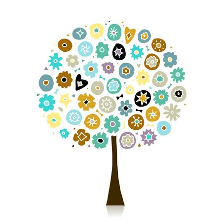 Floral tree for your design Illustration