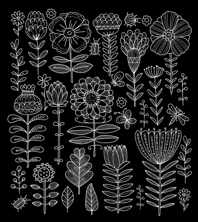 Floral meadow, sketch for your design