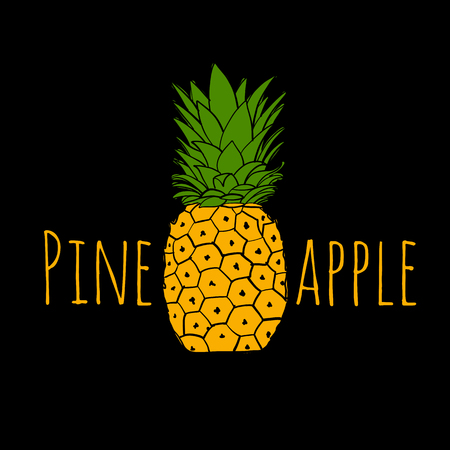 Pineapple, sketch for your design Иллюстрация