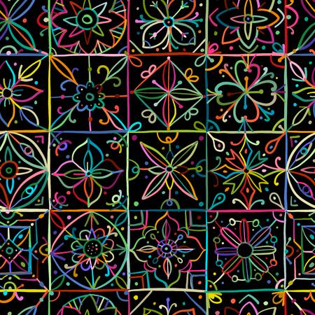 Modelo inconsútil geométrico abstracto para su diseño. Ilustración vectorial