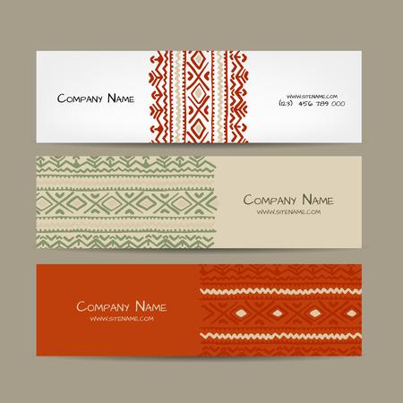 Banners design, folk ornament. Vector illustration Banque d'images - 126752275
