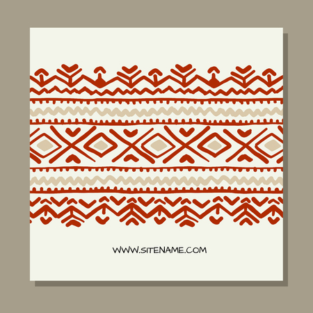 Business cards design, folk ornament. Vector illustration Banque d'images - 126752278