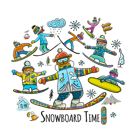 Snowboard time, sketch for your design