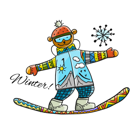 Snowboarder, sketch for your design