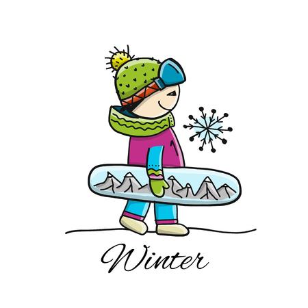 Snowboarder, sketch for your design
