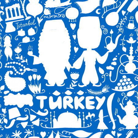 Travel to Turkey. Greeting card for your design