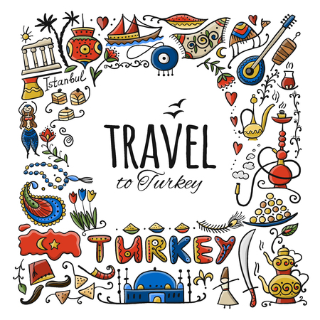 Voyage en Turquie. Carte de voeux pour votre conception