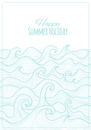 Abstract sea background for your design. Vector illustration Standard-Bild - 126678546