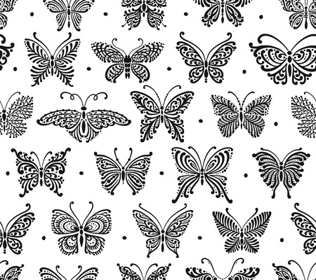 Art butterflies, seamless pattern for your design