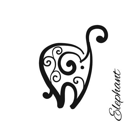 Ornate elephant, sketch for your design