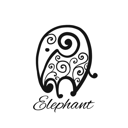 Ornate elephant, sketch for your design