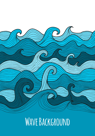 Abstract sea background for your design. Vector illustration