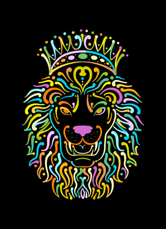 Lion face logo, sketch for your design